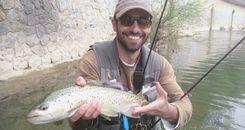 Iñaki Muñoz campeón de Alta Competición de pesca a mosca de Euskadi 2017