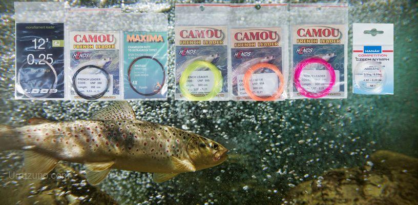 Bajos de línea cónicos o bajos de línea personalizados para pescar a mosca