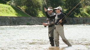 Perfeccionamiento de las técnicas de lanzado en la pesca a mosca