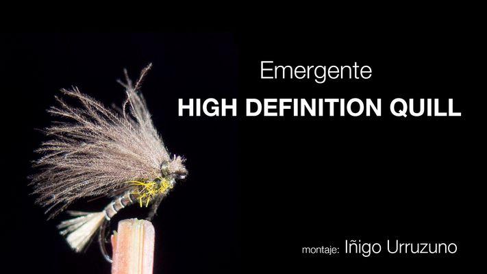 Montaje de mosca Emergente Oliva High Definition Quills