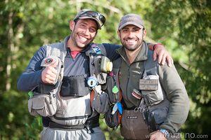 Resumen y resultados de las primeras mangas de la Liga de pesca a mosca por parejas de Gipuzkoa