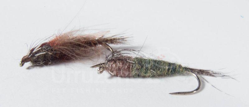 primeras ninfas pesadas kakalardos pesca mosca