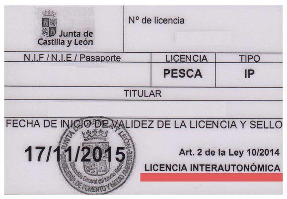 Licencia de pesca interautonómica, pescar en España con una sola licencia