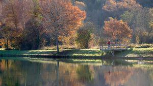 Pesca a mosca en el lago de Orleix - Francia