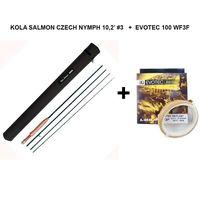 Set caña Kola Salmón 10,2' #3 + línea Loop  Evotec 100 WF3F